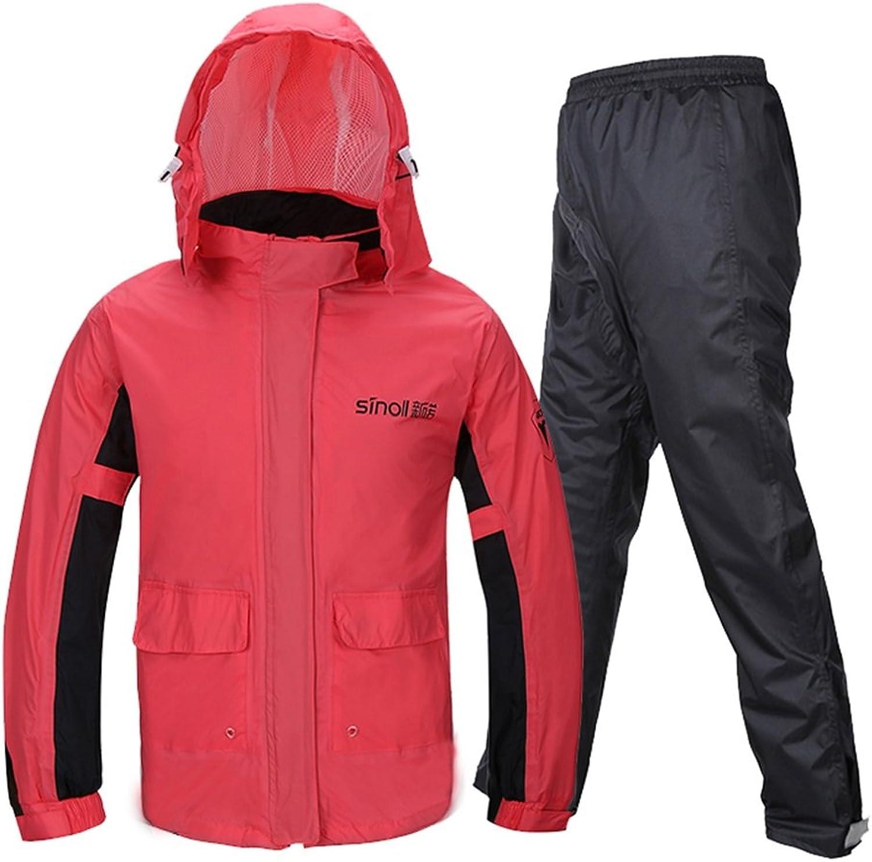 Regenmantel Regen Hosen Anzug Split Erwachsene Weibliche Dünne Mode Regenmantel Reiten Outdoor Wandern (gre   M)