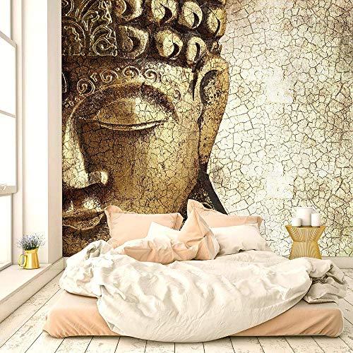 Fotobehang Fotobehang Boeddha Achtergrond TV Muurschildering Woonkamer Slaapkamer Vinyl Muurschildering Waterdicht Behang Home Decor-350x245cm(137.8by96.5in)