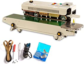 Automatic Sealing Machine,FR-900 Package Horizontal Continuous Plastic Bag Band Packing Sealer (US STOCK)