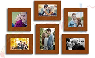 Art Street and Art Street My Gang Set of 6 Individual MDF Wood Wall Photo Frame - Brown