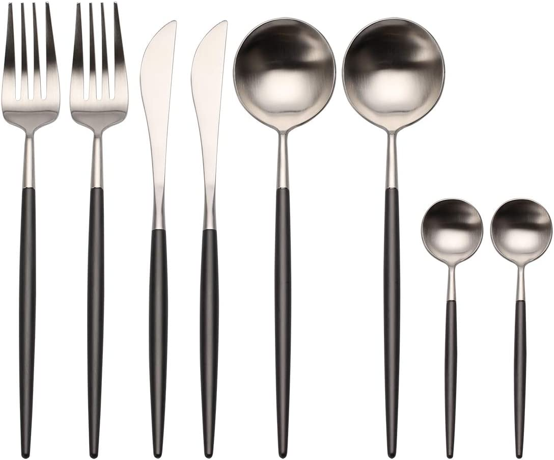 Tampa Mall Flatware Set Sales results No. 1 Morgiana 8-Piece 18 10 Steel Stainless Se