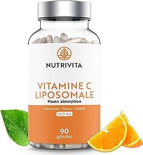 Vitamina C Liposomal 400 mg | Absorción Superior | Alta Dosificación en Ácido L-Ascórbico | 90 cápsulas | Fabricado en Francia | Nutrivita