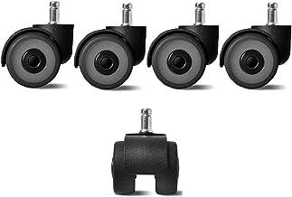 5 stks Meubilair Casters 2inch TPR Rubber Casters Kantoorstoel Vervanging Insteekstang Swivel Castor Wiel 57x50mm wielen m...