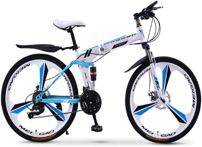 折りたたみマウンテンバイク自転車21/24/27/30スピード男性と女性スピード学生大人の自転車ダブルショックレーシング