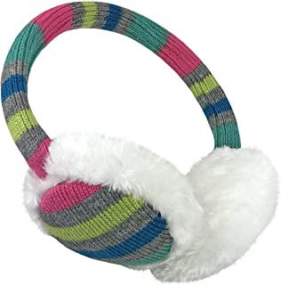 Girls Soft Plush Padded Knitted Design Adjustable Winter Earmuffs