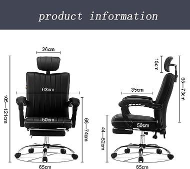 Ergonomic Office Chair with Adjustable Armrest High-Back Executive Computer Desk Task Swivel Chair PU Leather with Adjustable