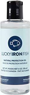 Lucky Iron Fish Ⓡ Natural Protection Oil, 4oz - Apply to Your Lucky Iron Fish Cooking Tool to Maintain, Protect and Preven...