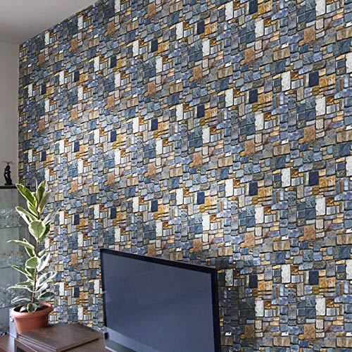 Adhesivos decorativos de pared de PVC de ukYukiko con piedra de ladrillo moderno extraíble para sala de estar