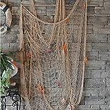 DEWEL - Rete da Pesca Cucita a Mano/Decorazione per la Tua casa o Ristorante, Stile mediterraneo