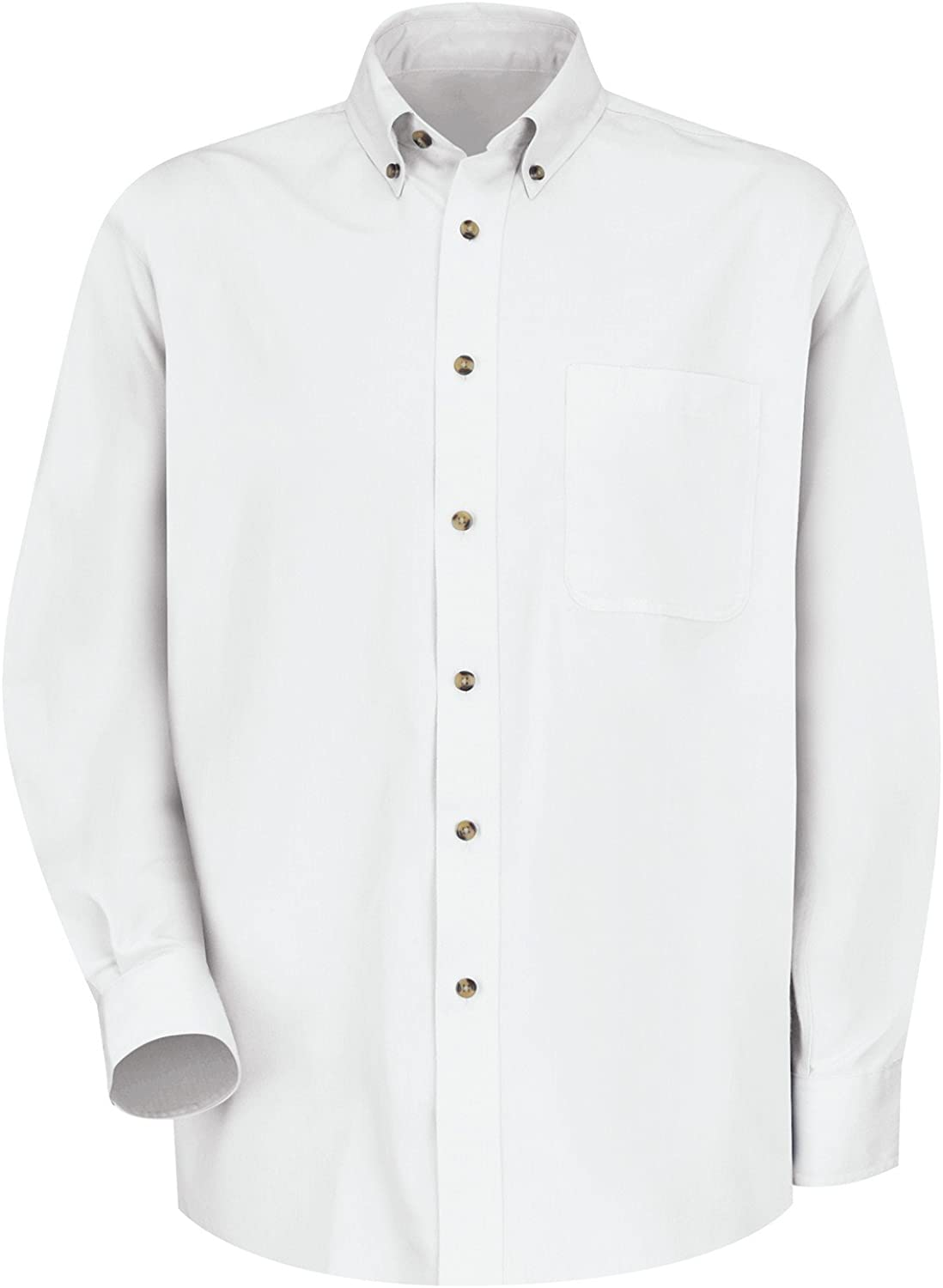Big and Tall Premium All Cotton Twill Oxford Casual Shirt Long Sleeve