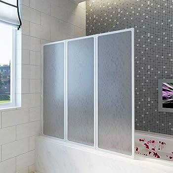 TecTake Pared plegable de bañera cabina plato de ducha separadora ...