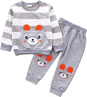 WonderBabe Bebés Niñas Recién Nacidos 3 Piezas Conjuntos de Ropa Niños Trajes de Manga Larga Mono de Mameluco Camiseta Pan...