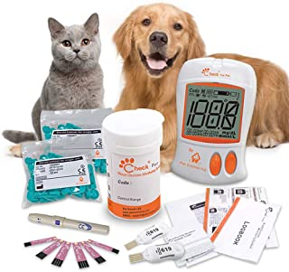 Pet Control HQ Veterinary Blood Glucose Monitor Meter Starter Kit for Dog, Cat | Diabetes Testing Tools - Calibrated for P...