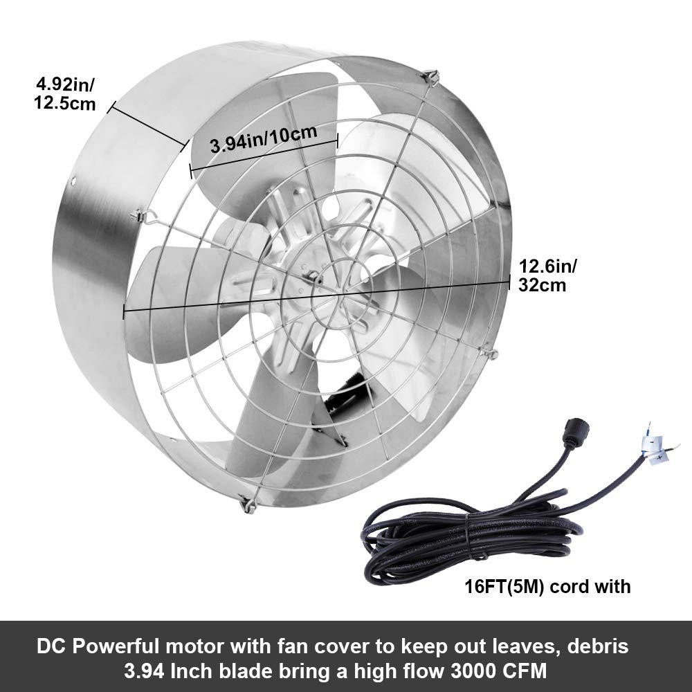 ECO-WORTHY Ventilador Solar de 65W 3000 CFM con kit de panel solar ...