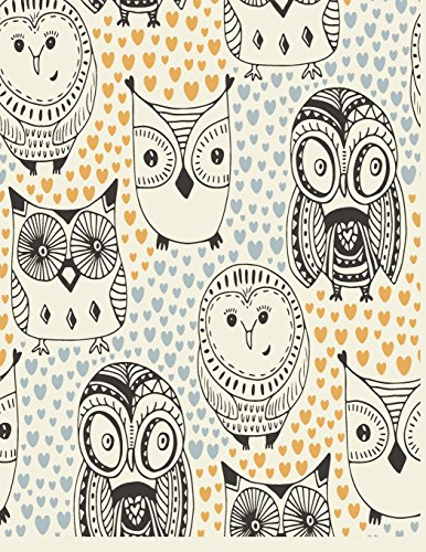 Price comparison product image Notebook: Owl cover and Dot pages,  Extra large (8.5 x 11) inches,  110 pages,  notebooks and journals (Owl notebook, with Dot pages,  Extra large (8.5 x 11) inches,  110 pages) (Volume 41)