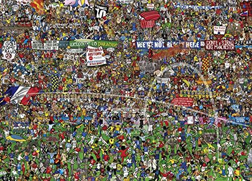 QBTE Historia del fútbol, 1000 Piezas Puzzle-Puzzle Cartón Puzzle-Piece Big Game Juguetes interesantes Tarjeta de Regalo Personalizada