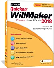 Quicken WillMaker Premium Home & Family 2018 - Windows & Mac - CD & Download - Includes Get It Together eBook