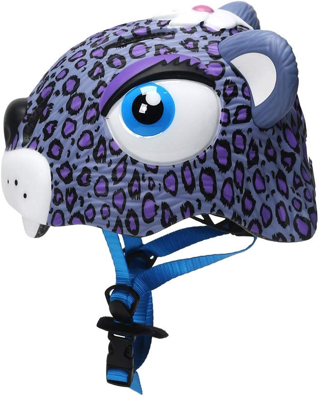 MEIEI Kinderhelm, Sicherheitsschutz, Cute Leopard, Abnehmbarer Fahrradhelm, Reithelm, Schutzkleidung