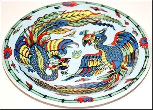 PHOENIX BOPLA! Porzellan Unterteller Ø16cm Asia Serie. Auch Brotteller, Miniteller für alles Kleine und Feine. (16cm, Grundfarbe hellblau)