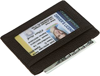 Slim Minimalist Front Pocket RFID Blocking Wallets - Genuine Leather Handmade Minimalist Credit Card Holder