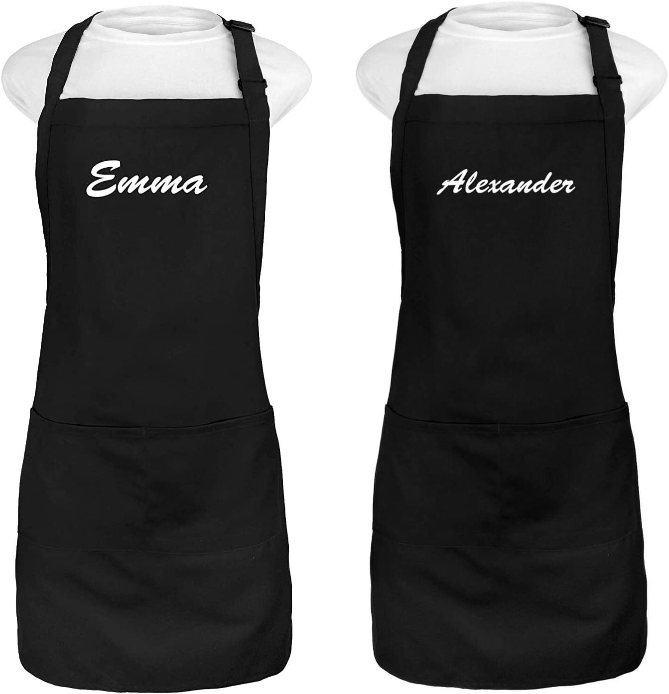 Kaufman - Set of Today's only Two Personalized Embroidered Name a Apron Add Seattle Mall