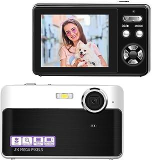Camara De Fotos Camara Fotos Videocamara Digital de 24 MP 3X Zoom Digital Camara de Fotos Digital Compacta 2.4 Pulgadas de LCD Cámaras Digitale con Función Macro para Youtube