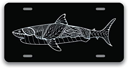 Personalized Cool Jaws Shark Front Mental License Plates 6 X 12 Car License Plate
