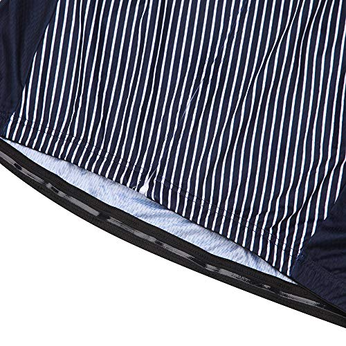NEENCA Herren Radtrikot Fahrradtrikot Kurzarm Sport T- Shirt Schnelltrockendes Atmungsaktives Elastisches Radshirts mit DREI Rückentaschen und Reißverschluss aus Polyester - 6