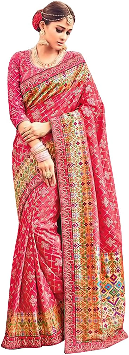 Bridal Silk Saree Sari New Launch Collection Blouse Wedding Party Wear Ceremony Women Muslim eid @1