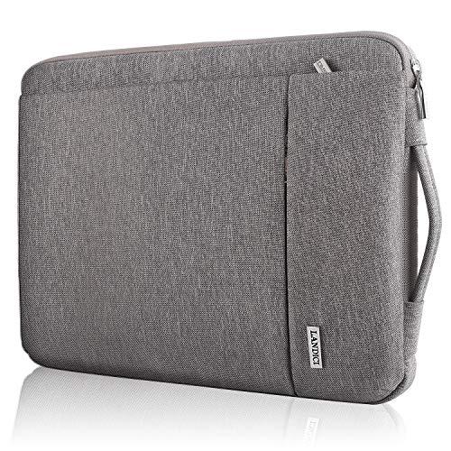 Landici 360 Laptop-Schutzhülle, 13 Zoll (33,8 cm), schlanke Computer-Tasche mit Handgriff, kompatibel mit MacBook Air/Pro M1, 13,5 Zoll (33,8 cm), Chromebook, XPS 13,3 cm, Jumper 13,3 cm, Khaki-Grau