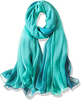 YFZYT Plain Farbe Modischer Damen Schal für Frühling & Sommer verschiedene Farben, Damen Schal Stola Halstuch Tuch aus Chiffon für Frühling Sommer Ganzjährig
