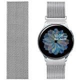 AVOD Compatible with TicWatch Pro/Asus Vivowatch/LG W 150/ZENWATCH, 22mm Stainless Steel Magnetic Mesh Watch Band Quick Release for Galaxy Watch 46mm, Gear S3 Frontier/Classic Women Men (Silver, 22mm)