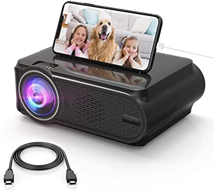 $84 Get HD Movie Projector Portable LED Projector Support 1080P for Home Theater Outdoor, Compatible with Phone/Laptop/USB/SD/AV/VGA/PS4