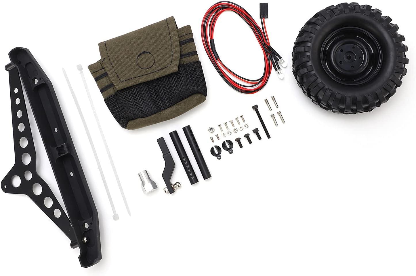 Popular brand Jopwkuin RC Rear Bumper Spare Tire Set More Durable Industry No. 1 Bum