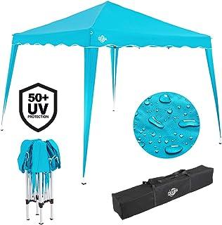 Deuba Pabellon de Jardin cenador Capri Azul Claro 3x3 m Carpa Plegable de jardín Impermeable y Pop Up para Eventos Camping