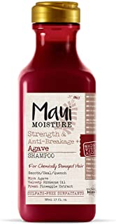 Maui Moisture Strength & Anti-Breakage + Agave Nectar Shampoo,13 Ounce, Rich and Creamy Sulfate Free Shampoo Gentle Enough...