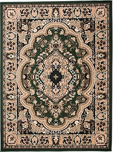 Alfombra 220 x 300 cm XL Grandes Verde Oriental Decoración Diseño/Carpeto Colección Verona