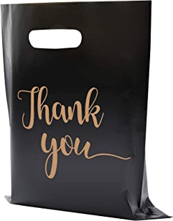 MUKOSEL 100Pcs Thank You Merchandise Bags, Extra Thick 2.36Mil 12x15In Retail Shopping Bags for Goodie Bags, Party, Store...
