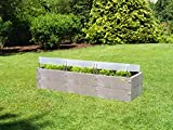 Juwel Timber XXL - Jardinera (16 Bloques de construcción, 3 Campos térmicos, Efecto Madera, Resistente a la Intemperie, Respetuoso con el Medio Ambiente), Madera nórdica