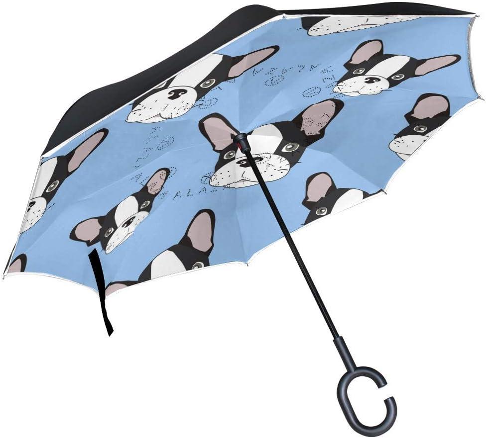 rodde Umbrella 55% OFF Reverse Inverted Selling rankings Sun Rain C Dog Animal Puppy Cute