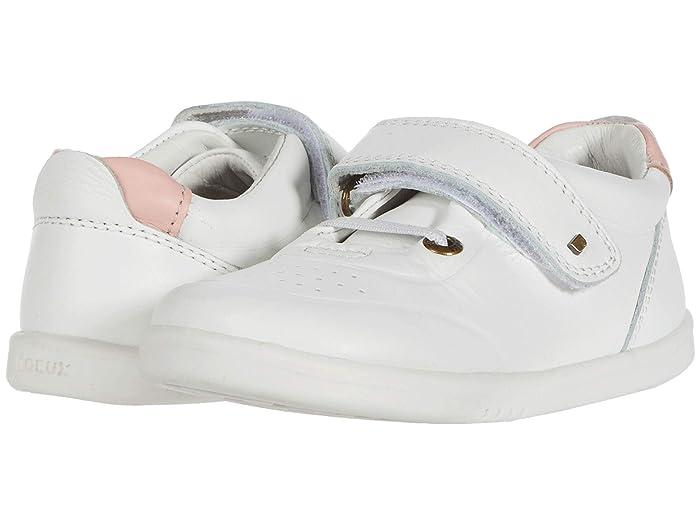 Bobux Kids  I-Walk Ryder (Toddler) (White/Seashell) Girls Shoes