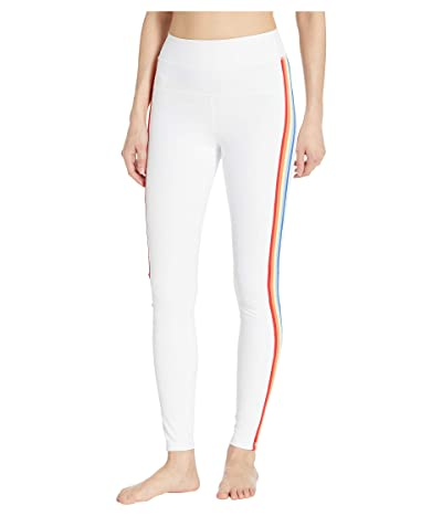Spiritual Gangster Track Tights (White) Women