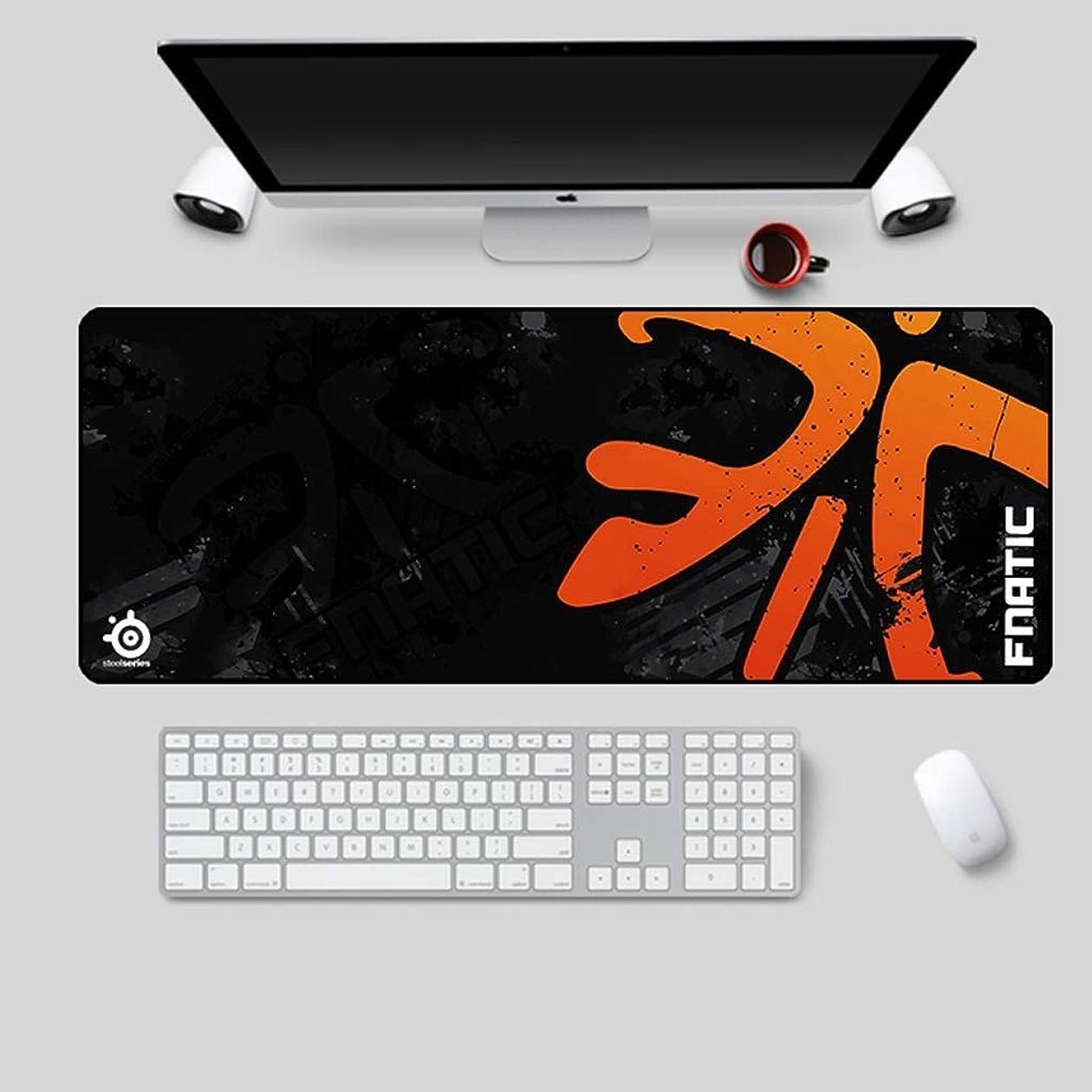 欺放射能しなやかな大型パッド入りゲーミングマウスパッド多機能滑り止めデスクトップキーボードパッド防水デザイン耐摩耗性ステッチエッジ落ちにくい JSFQ (Color : D)