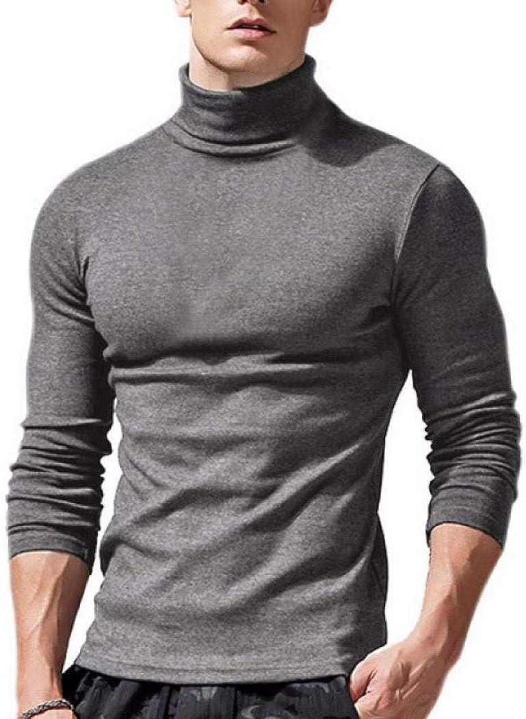 Comeon Mens Turtleneck Shirts Slim Fit Basic Layer Tops Lightweight Undershirts