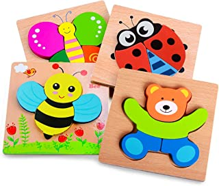 Wooden Animal Jigsaw Puzzles for Toddlers 1 2 3 Years Old,Boys&Girls Educational Toys Gift