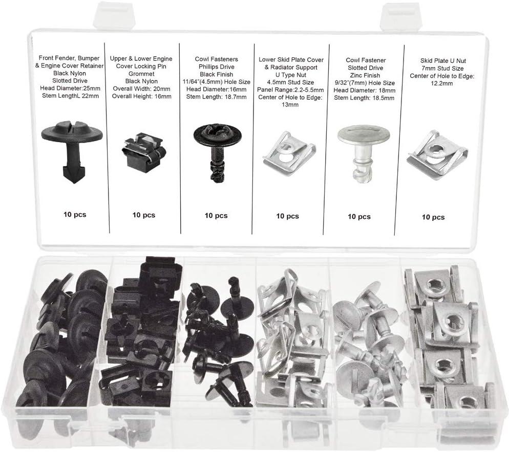 SWORDFISH 61250 - Engine Protection Pan Nu Pin Direct store Clip Cheap sale Hardware Kit