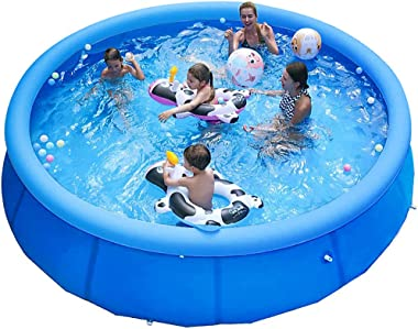 lifecolor Inflatable Swimming Pool for Kids, 8ft x 26in Family Full-Sized Swimming Pools Above Ground, Padding Pool for Outdo