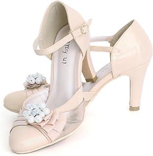 [プールヴー] 靴 パンプス ハイヒール お呼ばれ 女子会 レディース