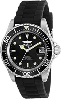 Men's Pro Diver Automatic-self-Wind Watch with Stainless-Steel Strap, Black, 19 (Model: 23678)