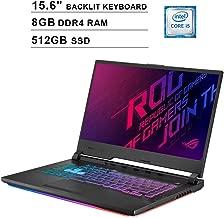 ASUS ROG Strix 15.6-Inch FHD 1080P Gaming Laptop, 9th Gen Intel Quad-core i5-9300H up to 4.1 GHz, NVIDIA GTX 1660 Ti, 8GB DDR4 RAM, 512GB SSD, USB, HDMI, WiFi, Bluetooth, RGB Keyboard, Windows 10